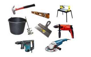 Набор инструментов для облицовки поверхностей керамикой