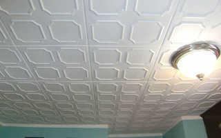 Какой краской красить потолочную плитку из пенопласта
