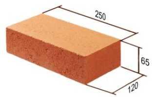 Размеры цокольного кирпича красного
