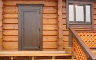 Какую входную дверь лучше поставить в бане