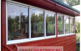 Деревянные окна для террасы в одно стекло