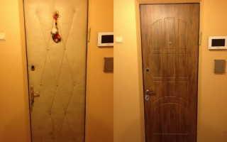 Чем можно обшить железную дверь?