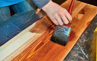 Как покрасить морилкой мебель?