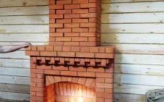 Как строить камины из кирпича на даче