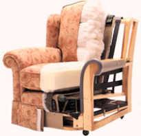 Как перетянуть кресло кровать?
