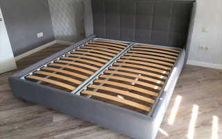 Как закрепить ортопедическое основание к кровати?