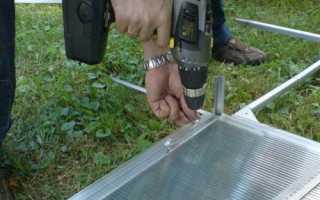 Как раскроить поликарбонат на торцы теплицы