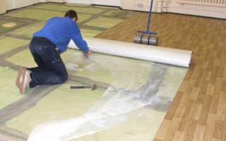 Как правильно уложить линолеум на бетонное основание