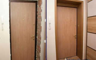 Как обшить дверной проем входной двери?