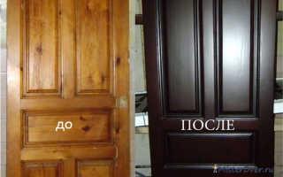 Как восстановить лакированную дверь?