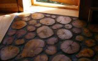 Как сделать пол из спилов дерева?