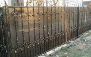 Забор из поликарбоната своими руками