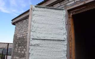 Как наклеить утеплитель на железную дверь?