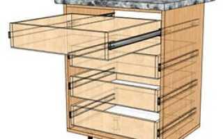 Как сделать выкатной стол из шкафа купе?