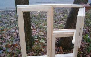 Как сделать окна из дерева своими руками
